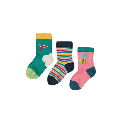Frugi Little Socks - Bee - 3 Pack-Socks- Natural Baby Shower
