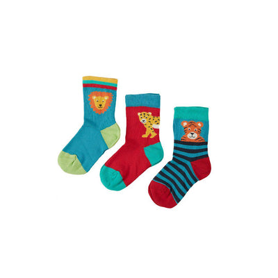 Frugi Little Socks - Big Cat - 3 Pack-Socks- Natural Baby Shower