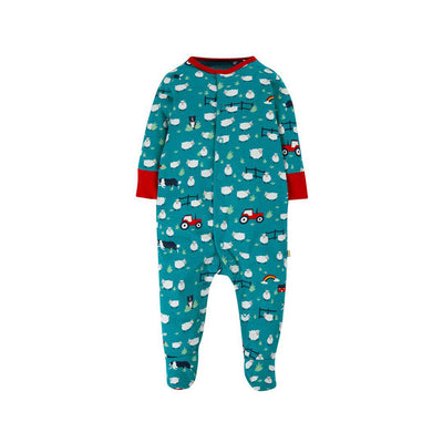 Frugi Lovely Babygrow - Sheepdogs-Rompers- Natural Baby Shower