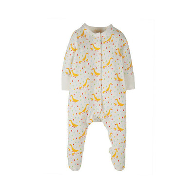Frugi Lovely Little Babygrow - Soft White Runner Ducks-Rompers- Natural Baby Shower