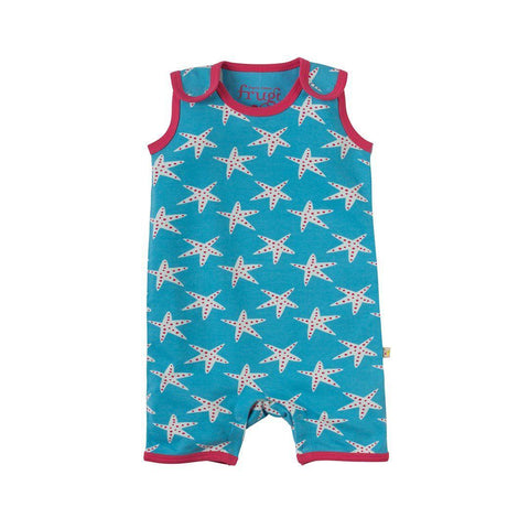 Frugi - Lundy Dungaree - Sky Starfish