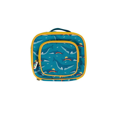Frugi Pack A Snack Lunch Bag - Rainbow Whales-Lunch Bags-Rainbow Whales- Natural Baby Shower