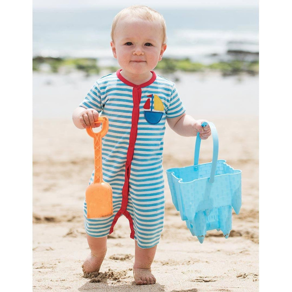 Playsuits & Rompers - Rockpool Romper - Sky Fine Stripe/Boat Lifestyle