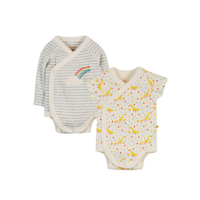 Frugi Shay Bodies - Duck - 2 Pack-Bodysuits- Natural Baby Shower