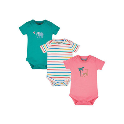 Frugi Super Special Bodies - Animal - 3 Pack-Bodysuits- Natural Baby Shower