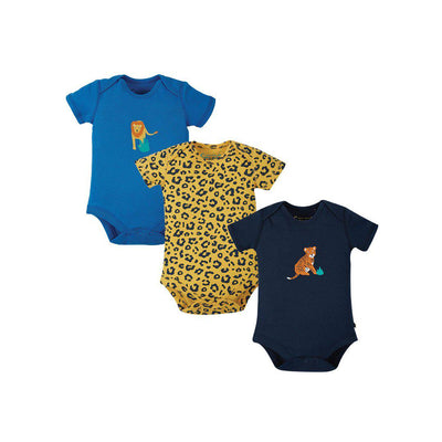 Frugi Super Special Bodies - Big Cat - 3 Pack-Bodysuits- Natural Baby Shower