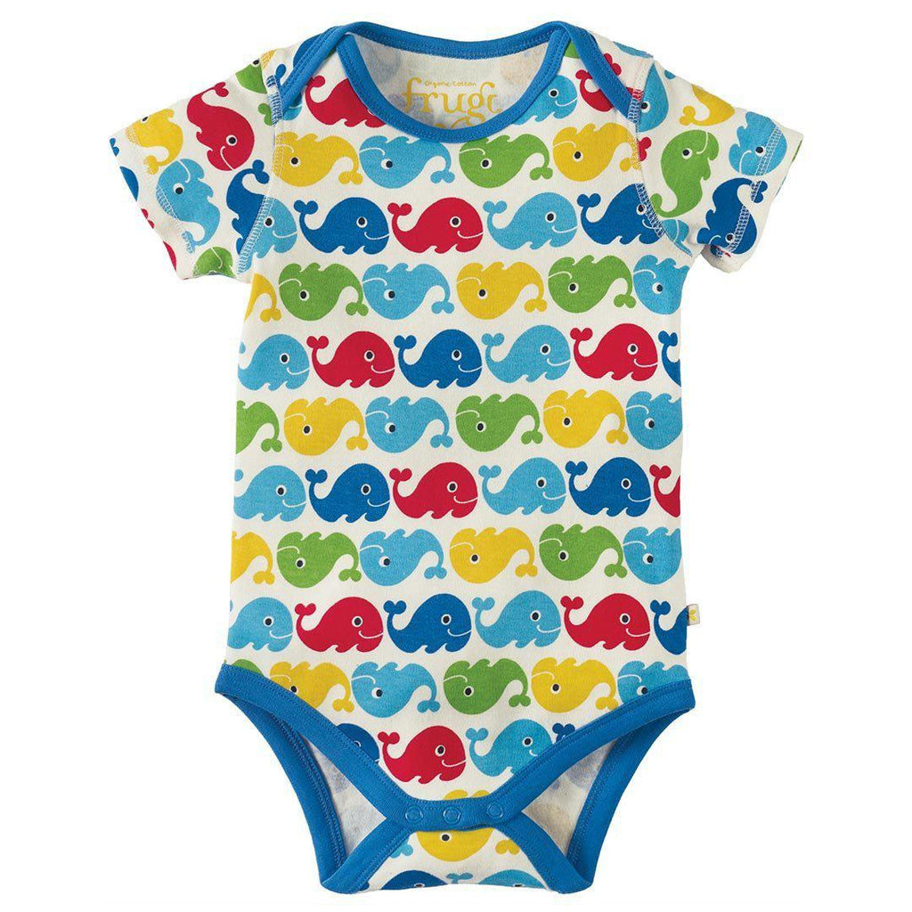 Frugi Super Special Body - Rainbow Whales - 3 Pack