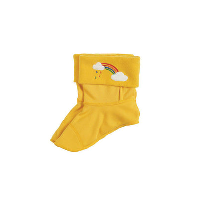 Frugi Warm Up Welly Liner - Bumble Bee/Rainbow-Socks- Natural Baby Shower
