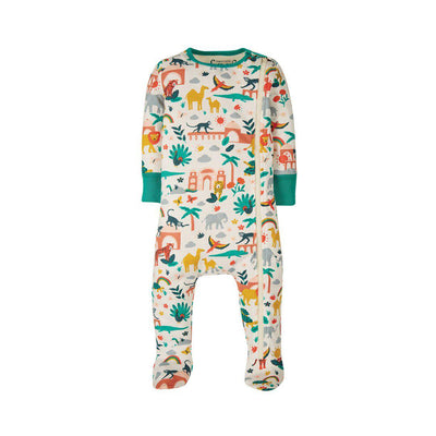Frugi Zip Up Babygrow - India-Rompers- Natural Baby Shower