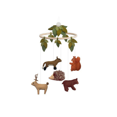 GAMCHA Mobile - Woodland/Leaves-Baby Mobiles-Woodland/Leaves- Natural Baby Shower