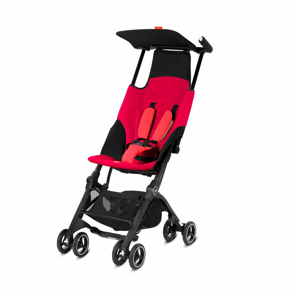 gb Pockit Pushchair - Cherry Red-Strollers- Natural Baby Shower