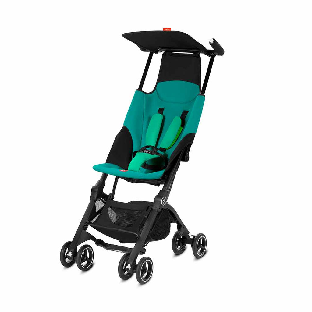 gb Pockit Pushchair - Laguna Blue-Strollers- Natural Baby Shower