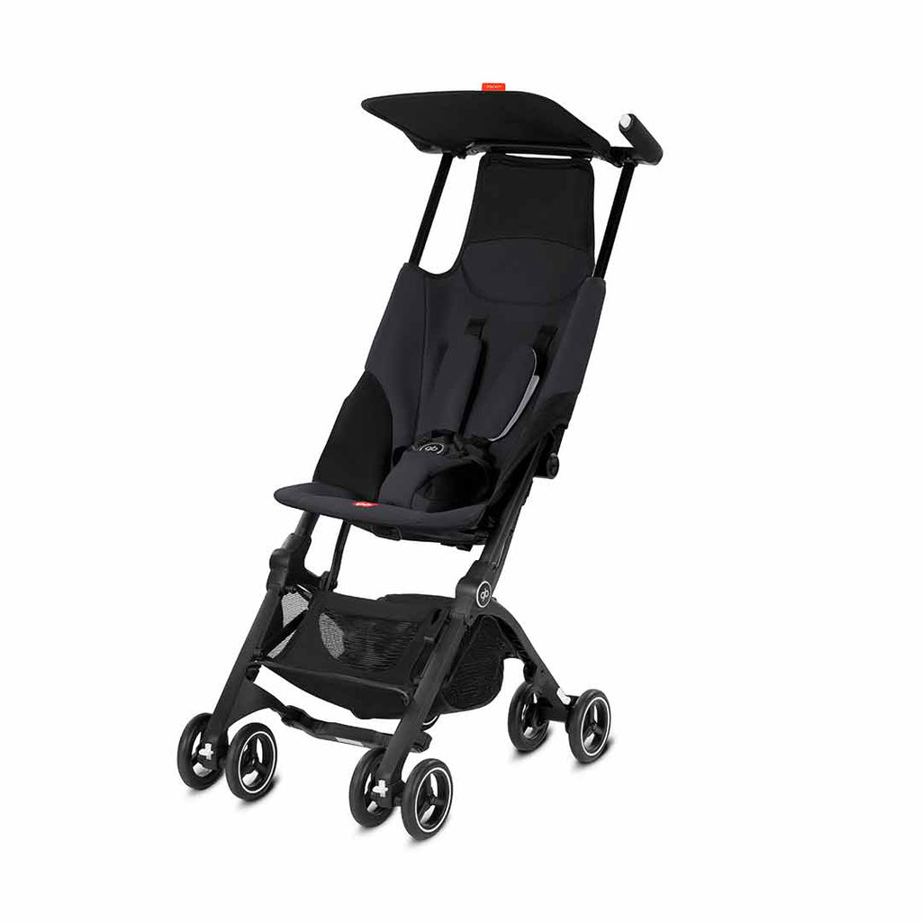 gb Pockit Pushchair - Satin Black-Strollers- Natural Baby Shower