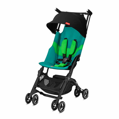gb Pockit+ All Terrain Pushchair - Laguna Blue-Strollers- Natural Baby Shower