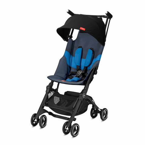 gb Pockit+ All Terrain Pushchair - Night Blue-Strollers- Natural Baby Shower