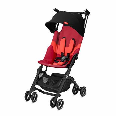 gb Pockit+ All Terrain Pushchair - Rose Red-Strollers- Natural Baby Shower