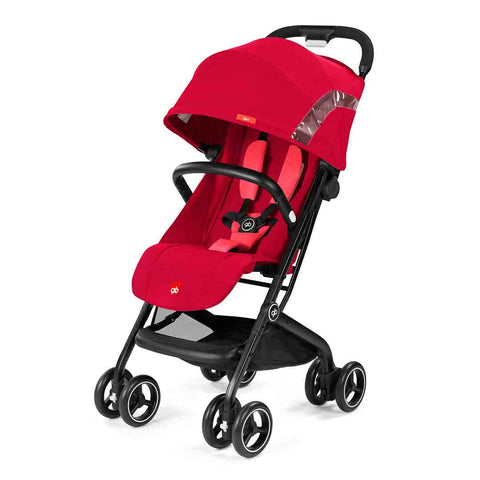 gb Qbit Pushchair - Cherry Red-Strollers- Natural Baby Shower