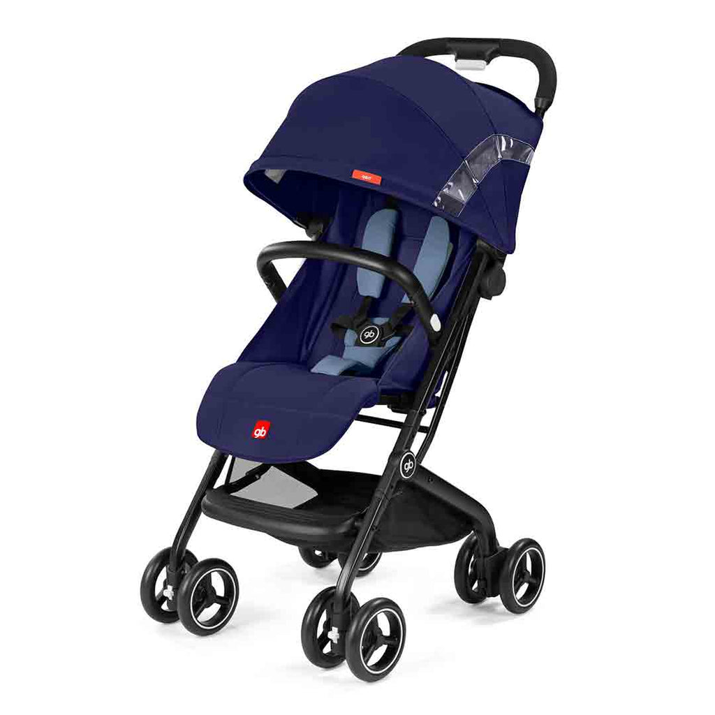 gb Qbit Pushchair - Sapphire Blue-Strollers- Natural Baby Shower