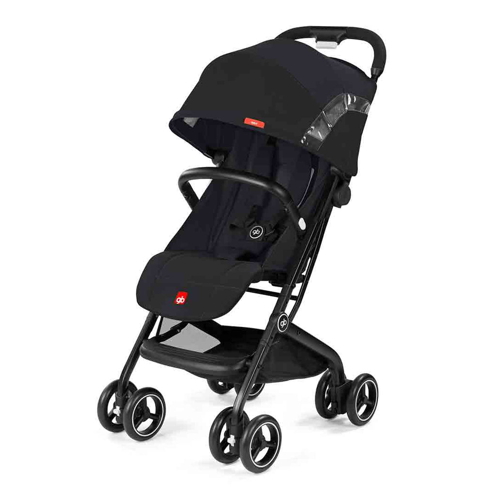 gb Qbit Pushchair - Satin Black-Strollers- Natural Baby Shower