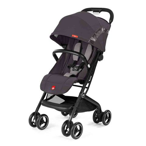 gb Qbit Pushchair - Silver Fox Grey-Strollers- Natural Baby Shower