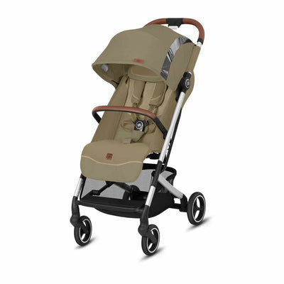 gb Qbit+ Fashion Edition Pushchair - Vanilla Beige-Strollers-All City- Natural Baby Shower