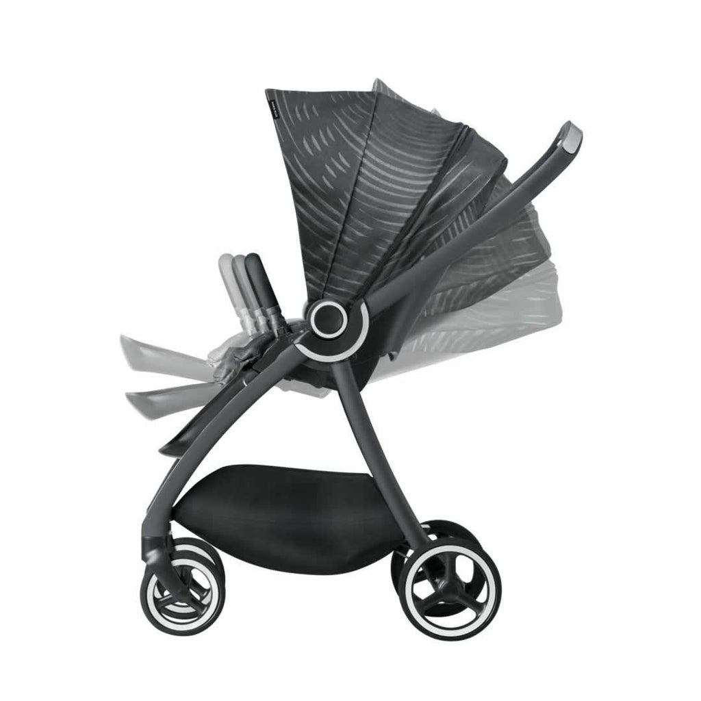 gb Maris Pushchair - Monument Black Reclined