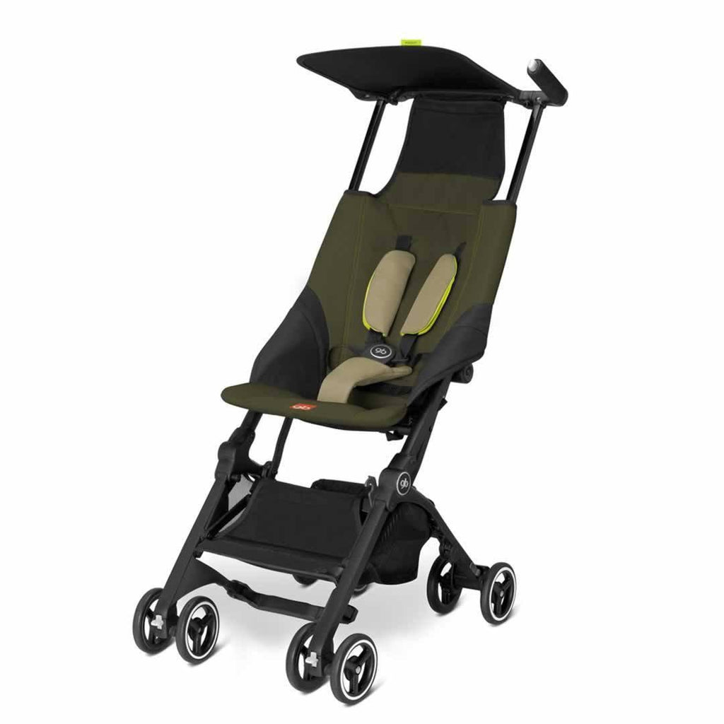 gb Pockit Pushchair - Lizard Khaki - Strollers - Natural Baby Shower
