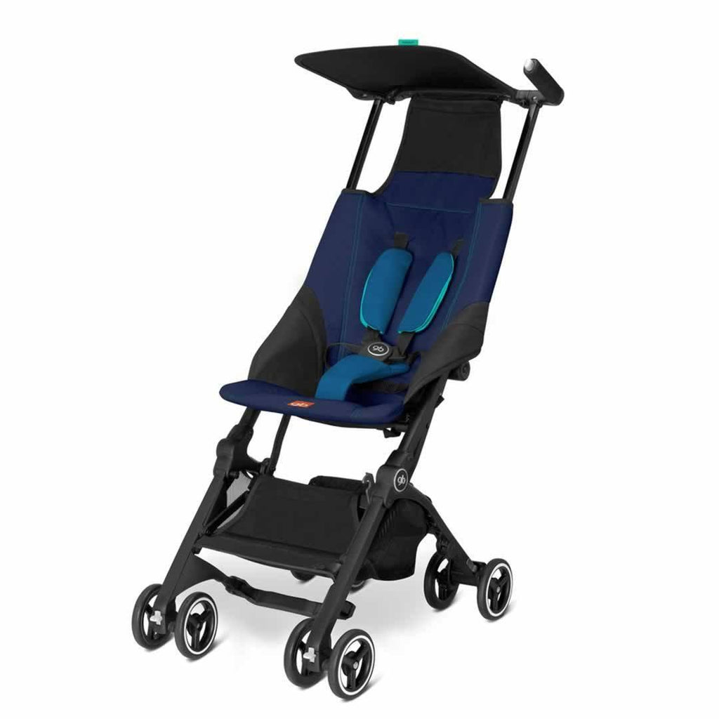 gb Pockit Pushchair - Seaport Blue - Strollers - Natural Baby Shower