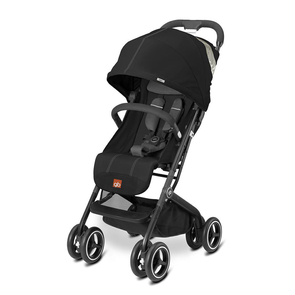 gb Qbit Plus Pushchair - Monument Black - Strollers - Natural Baby Shower
