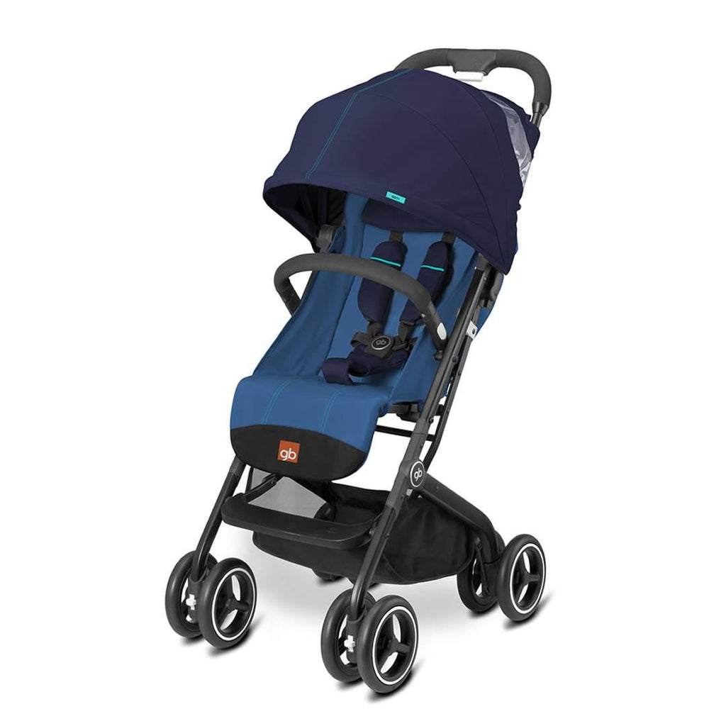 gb Qbit+ Pushchair - Seaport Blue-Strollers- Natural Baby Shower