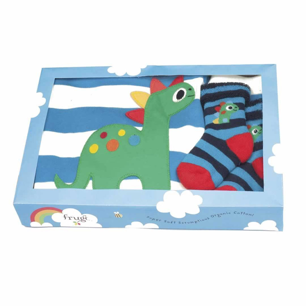 Gift Sets - Frugi Bubbly Baby Gift Set - Harbour Blue/Natural Stripe