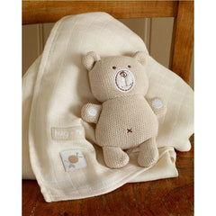 Gift Sets - Natures Purest Knitted Bear & Muslin - Hug Me Bear