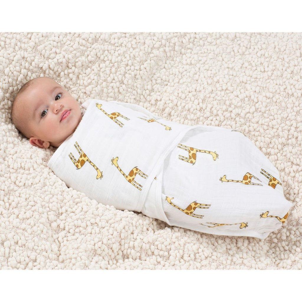 Aden & Anais Muslin Easy Swaddle - Jungle Jam - Giraffe