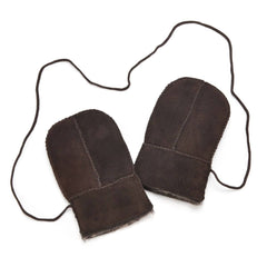 Gloves & Mittens - ECL Sheepskin Baby Mittens - Chocolate