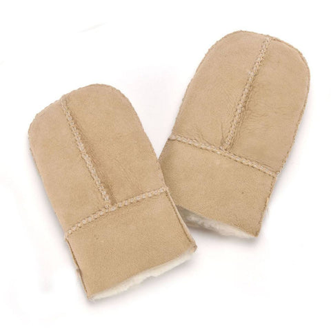 Gloves & Mittens - ECL Sheepskin Childrens Mittens - Sand