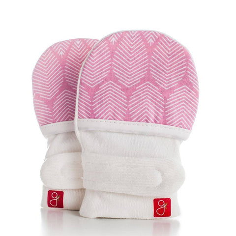Goumikids Mitts - Leaves Pink - Gloves & Mittens - Natural Baby Shower