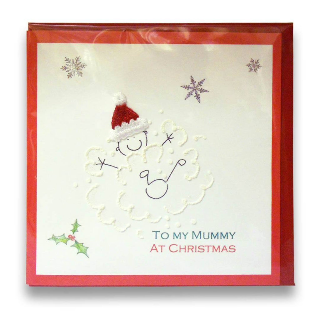 Greeting Cards - White Cotton Cards To My Mummy At Christmas