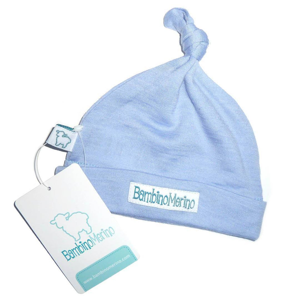 Hats - Bambino Merino Single Knotted Beanie - Sky