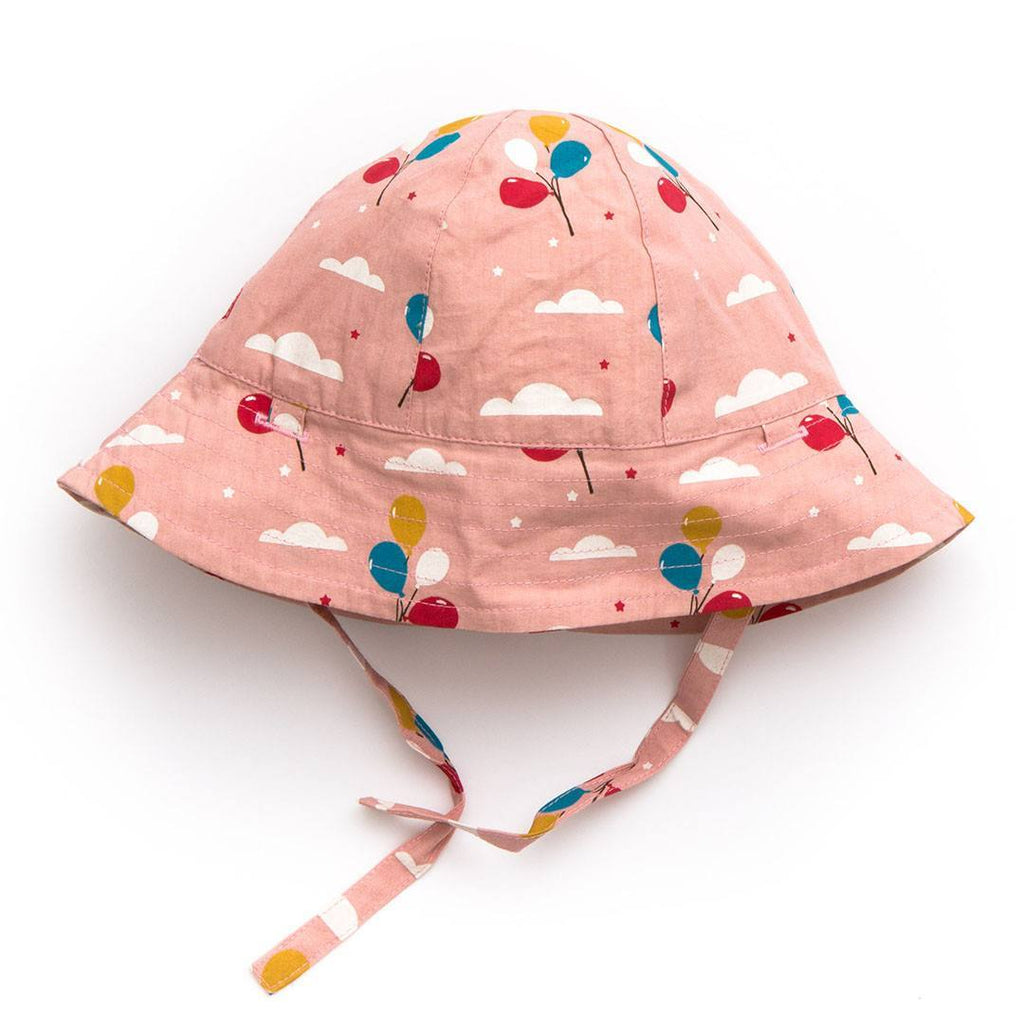 Hats - Little Green Radicals Reversible Summer Hat - Pale Pink Balloons