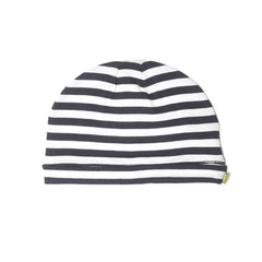 Hats - Nui Organics Merino Beanie - Thermals - Black & White Stripe