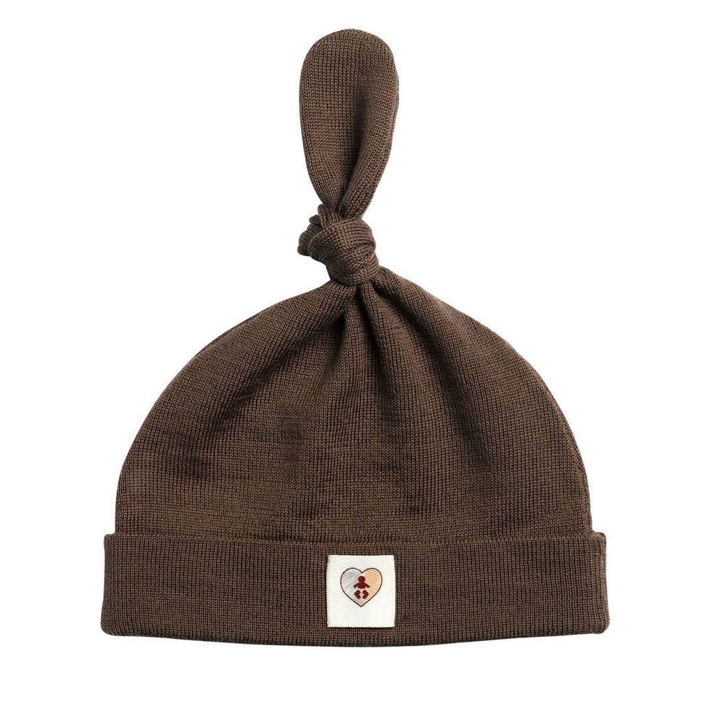 Hats - Nurtured By Nature Beanie - Pure Merino - Chocolate