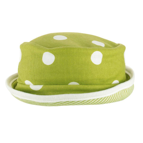 Hats - Pigeon Organics Reversible Sun Hat - Spots & Stripes - Green