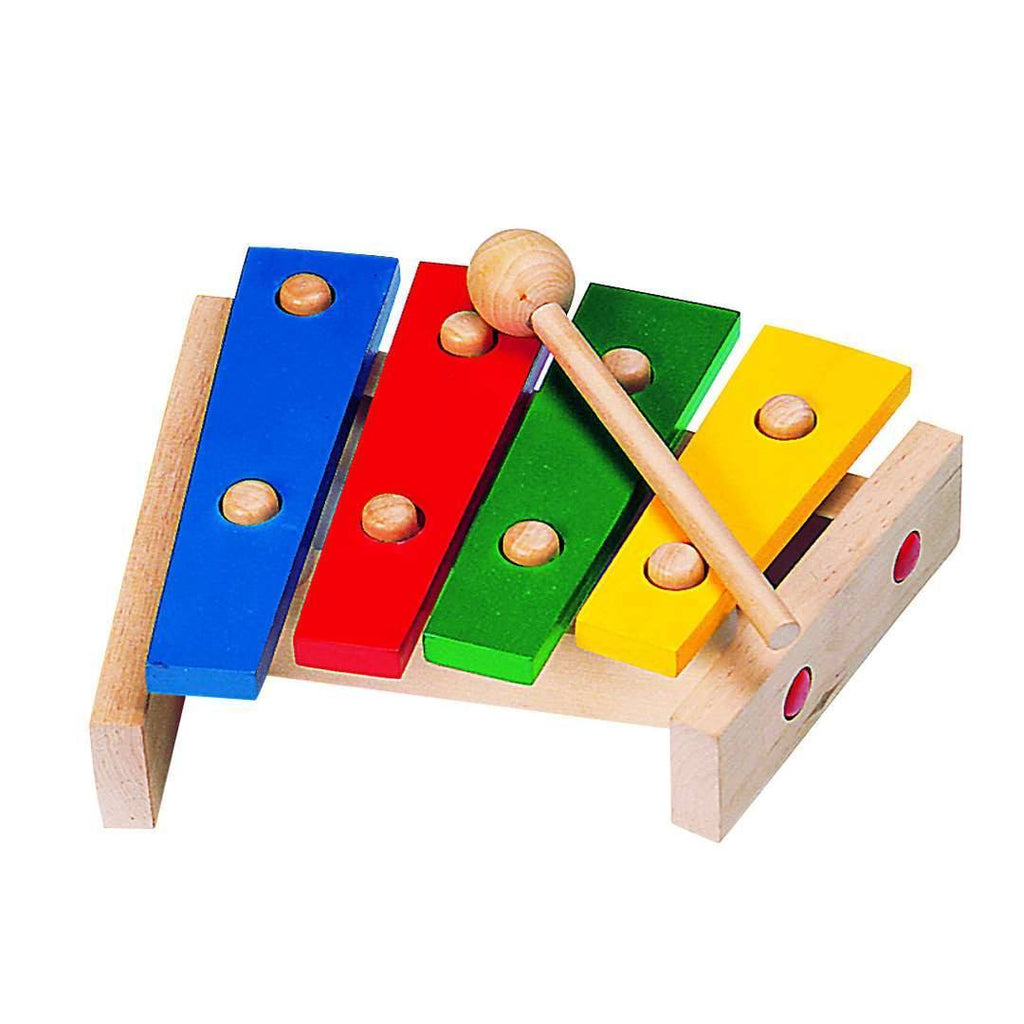 Wooden Rainbow Xylophone Sticks ~ Goki wooden baby toys natural shower