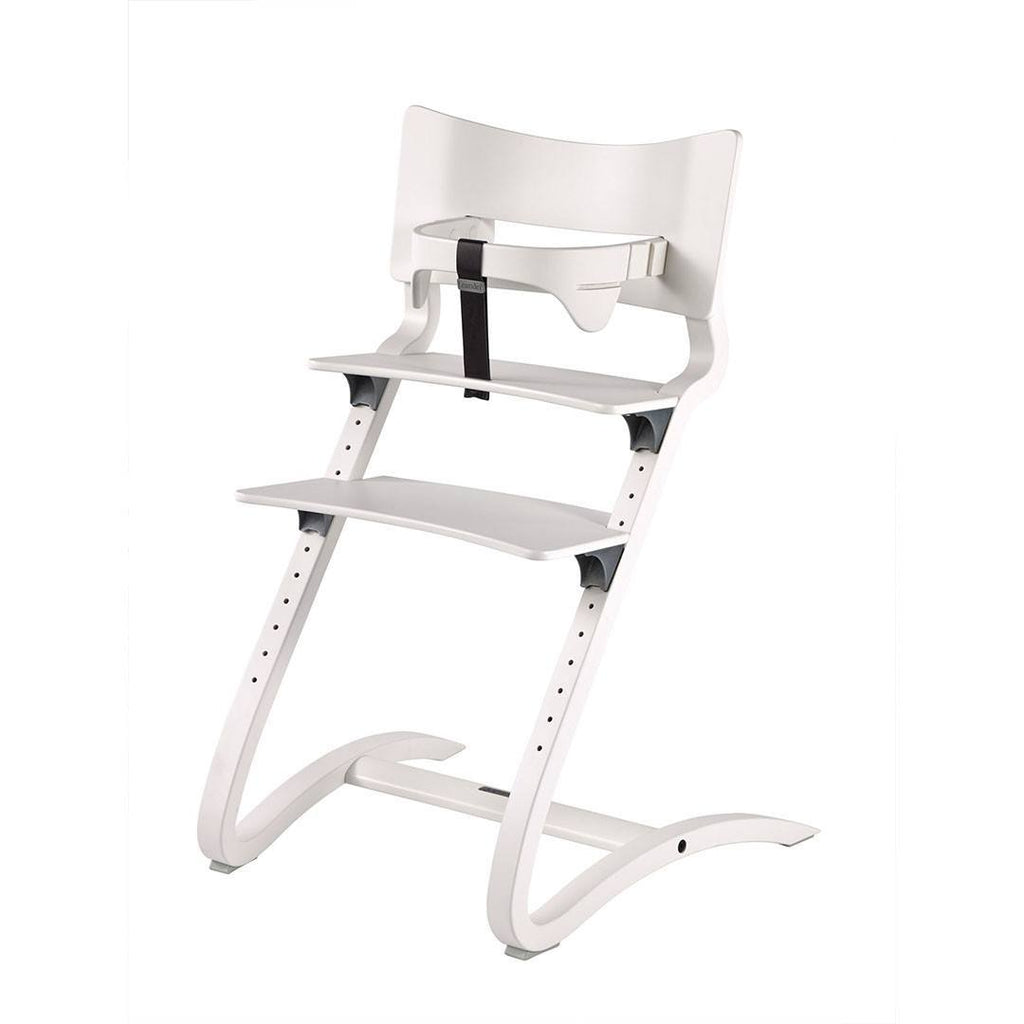 Leander High Chair with Safety Bar - White-High Chairs-Default- Natural Baby Shower