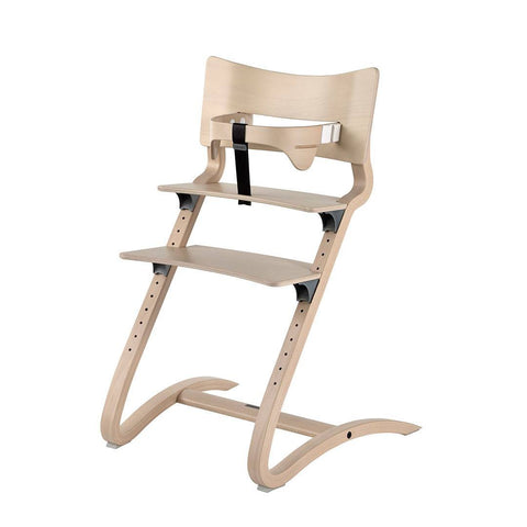 High Chairs - Leander High Chair With Safety Bar - Whitewash