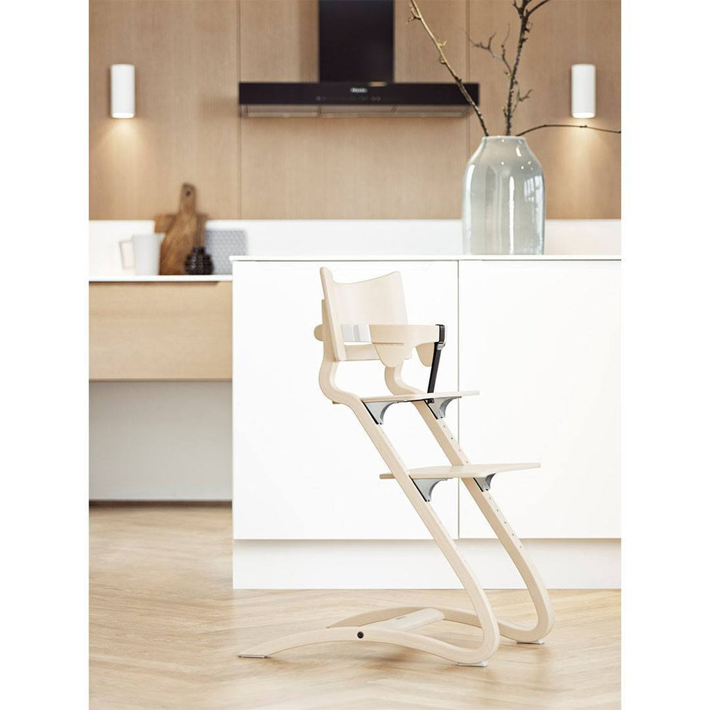 Leander High Chair with Safety Bar - Whitewash – Natural Baby Shower