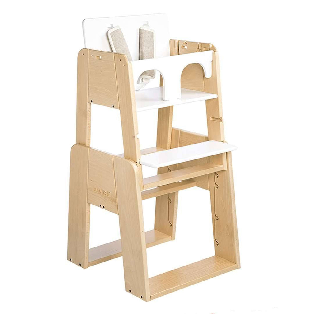 moodelli Growi Highchair Baby Set 6m - High Chairs - Natural Baby Shower