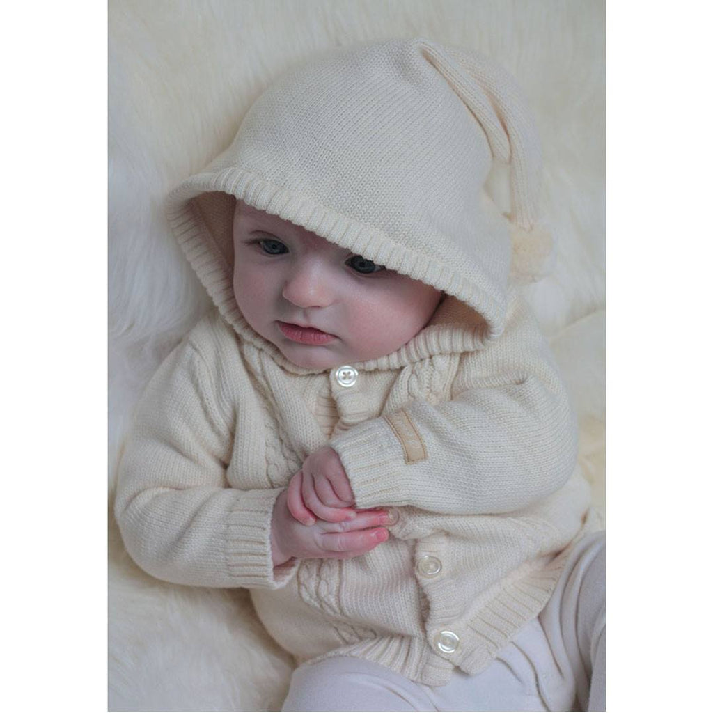 Natures Purest Hooded Cardigan - Natures Knits - Hoodies & Cardigans - Natural Baby Shower
