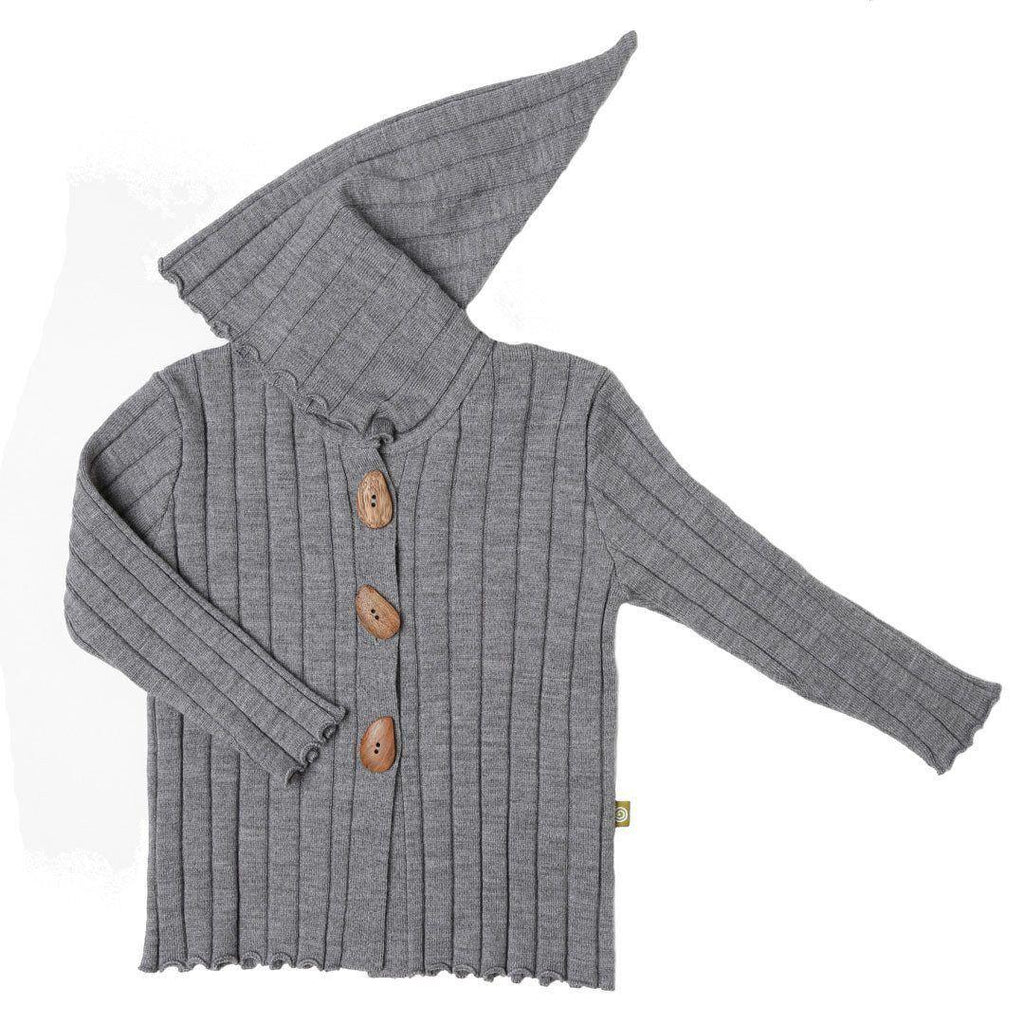 Hoodies & Cardigans - Nui Organics Knitted Hooded Jacket - Knits - Silver