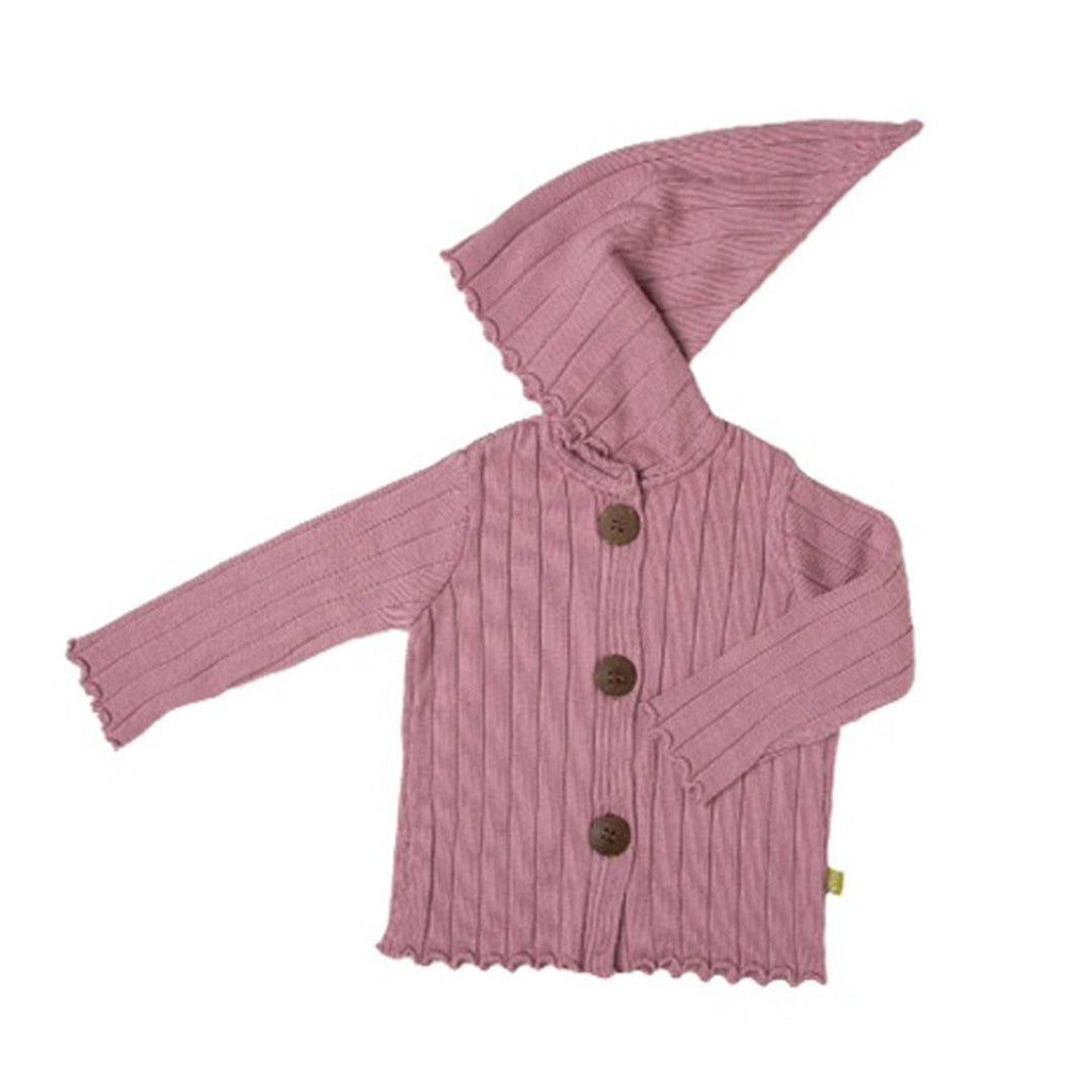 Hoodies & Cardigans - Nui Organics Merino Hooded Jacket - Knits - Rose